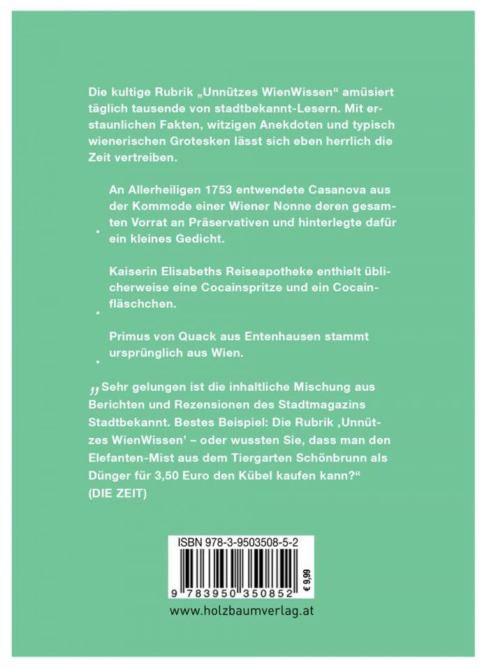 Unnützes WienWissen - Rückenansicht (c) STADTBEKANNT