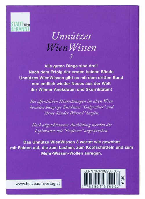 Unnützes WienWissen3 - Rückenansicht (c) STADTBEKANNT