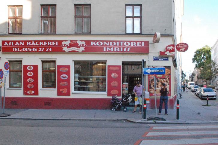Einagang Bäckerei Aslan (c) stadtbekannt.at