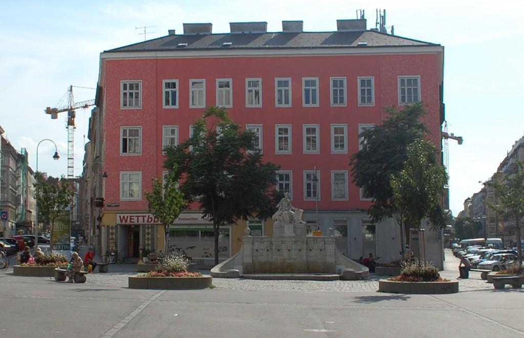 Der Siebenbrunnenplatz