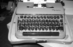 supere Schreibmaschine.