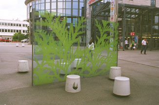 Dekorative Stadtmöblierung Wiener Berg