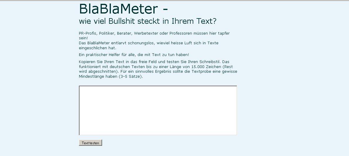 BlaBlaMeter Screenshot