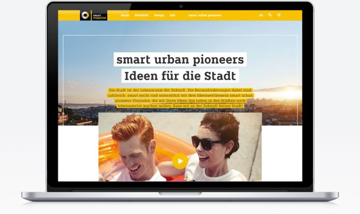 smart urban pioneers Screen Mockup