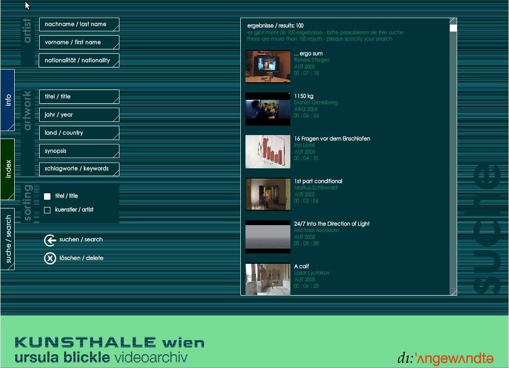 ursula blickle videoarchiv