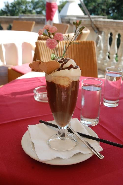 Eiskaffee Schlossrestaurant Wilhelminenberg Foto: STADTBEKANNT