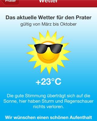 Prater App Wetter