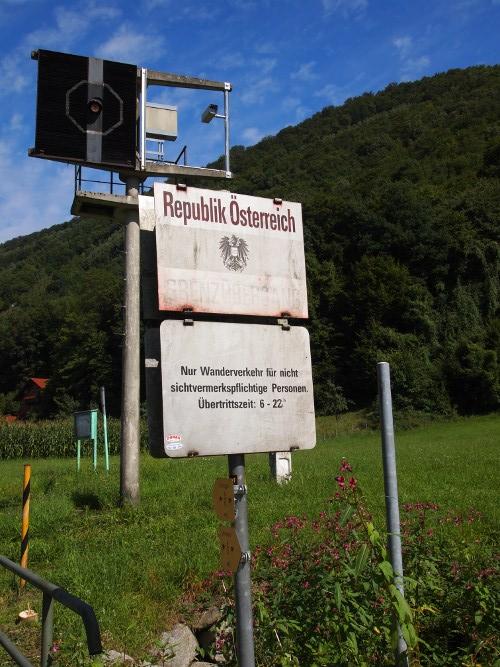 Radfahrt nach Österreich