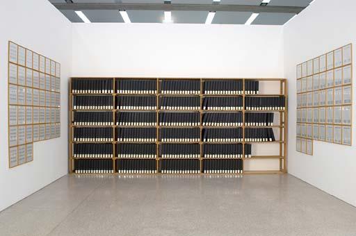 Hanne Darboven, Ein Jahrhundert (Bücherei), 1970–1971, mumok Wien © VBK Wien, 2011