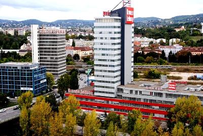 Das Mediaprint Gelände und der Campus Brigittenau