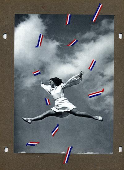 Mladen Stilinovi? Skok / Jump, 2005 Kollage auf Karton