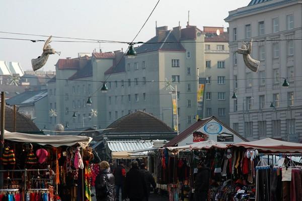 Blick auf den Naschmarkt