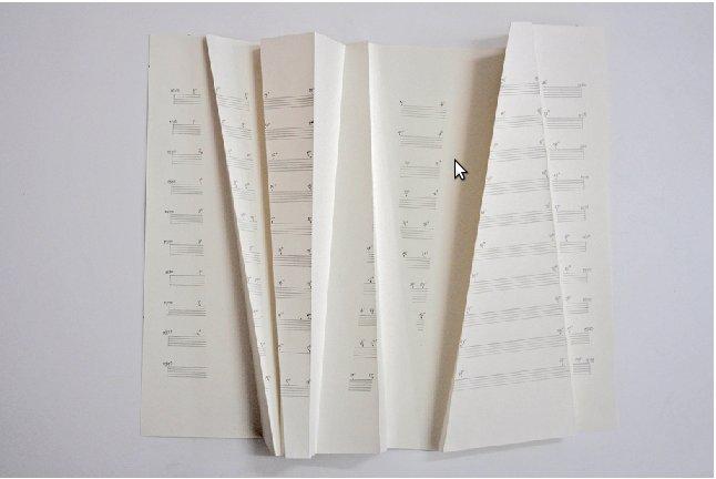 William Engelen - gefaltete Partitur -- FALTENROCK, 2011