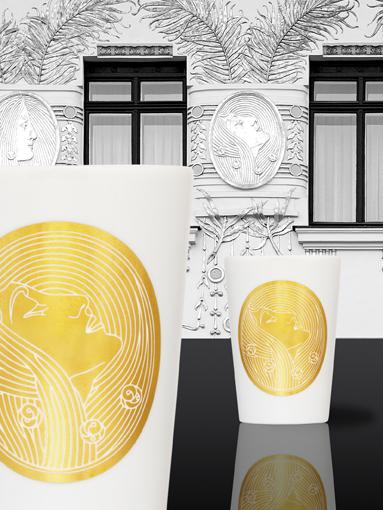 Das Goldene Wiener Herz - Porzellanbecher