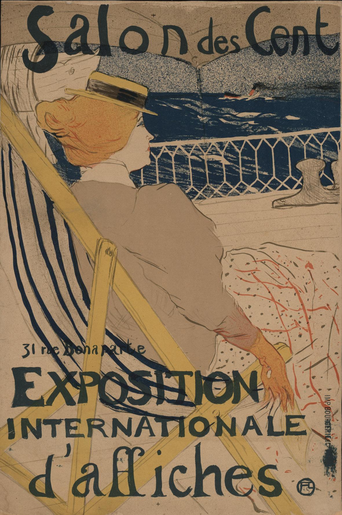 Henri de Toulouse-Lautrec (1864–1901) Salon des Cent: Exposition Internationale d'Affiches, 1896 Druckerei: Paris, Impr. Bourgerie & Co. Drucktechnik: Lithografie © MAK