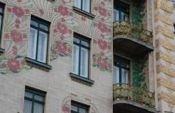 Jugendstilfassaden am Naschmarkt