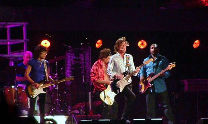 Darryl Jones with The Rolling Stones. (c) Severino