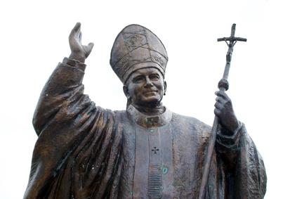 Statue Papst Johannes Paul II. (c) Fotolia.com