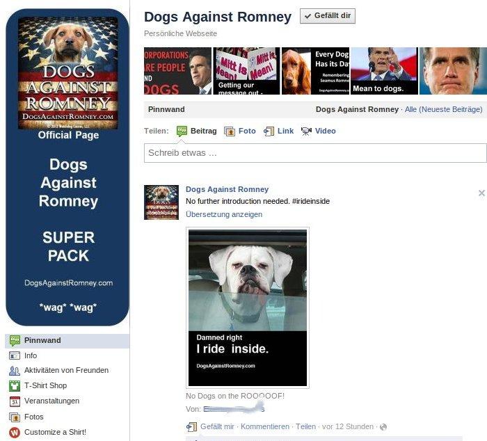 Dogs against Romney Screenshot