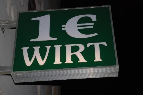 1 Euro Wirt