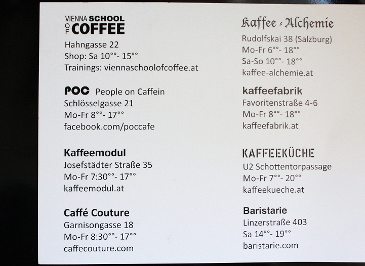 Coffeeshops Liste (c) The Independent Coffeemap