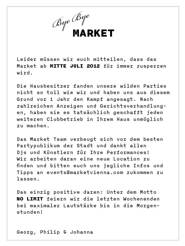 Bye Bye Market