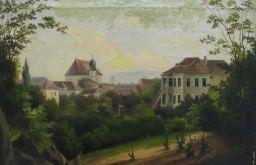 Kirche St. Gertrud um 1850