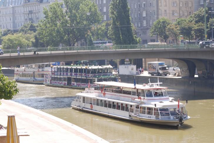 Donaukanal Schiffe Foto:stadtbekannt.at