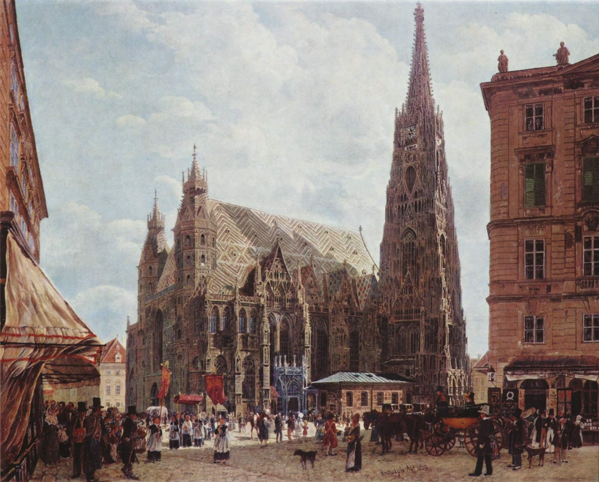 Stephansdom 1832, Rudolf Ritter von Alt