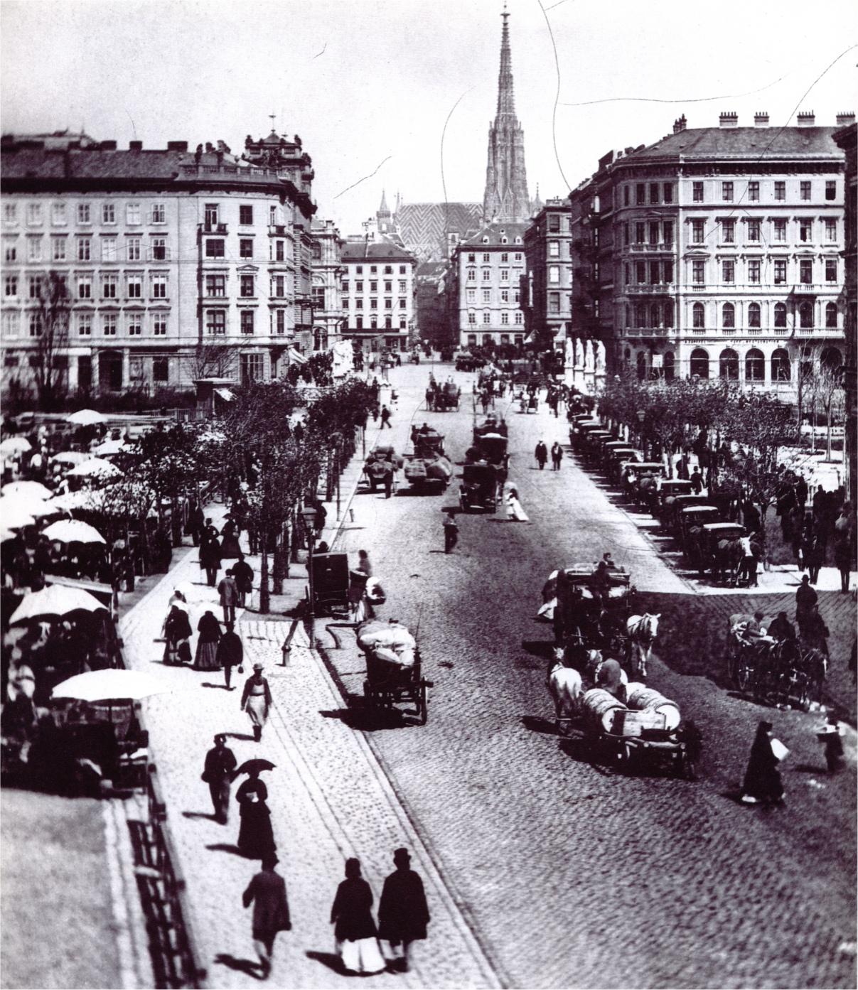 Naschmarkt 1872, Wilhelm Burger