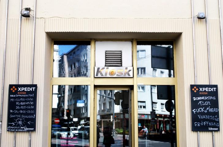 Eingang Xpedit Kiosk (c) Marlene Mautner stadtbekannt.at