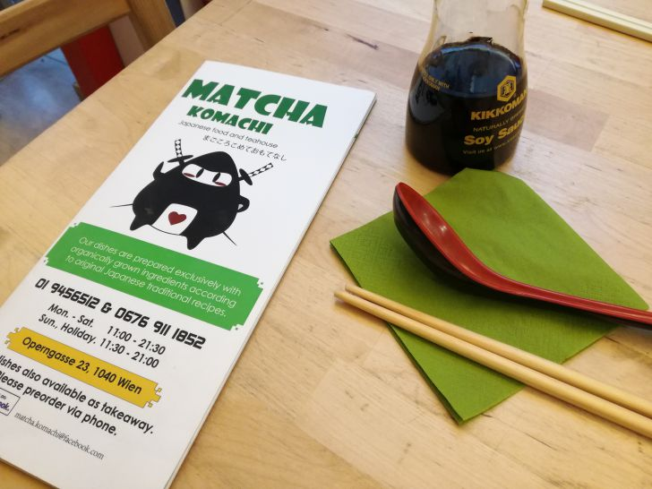 Matcha Komachi Speisekarte (c) STADTBEKANNT