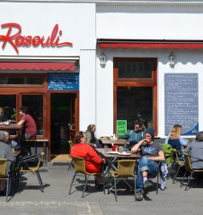 Restaurant Rasouli Gastgarten (c) STADTBEKANNT