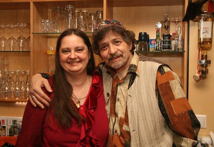 Jazzcafe Zwe Besitzer Helmut Rainer mit Frau Ursula Mertens