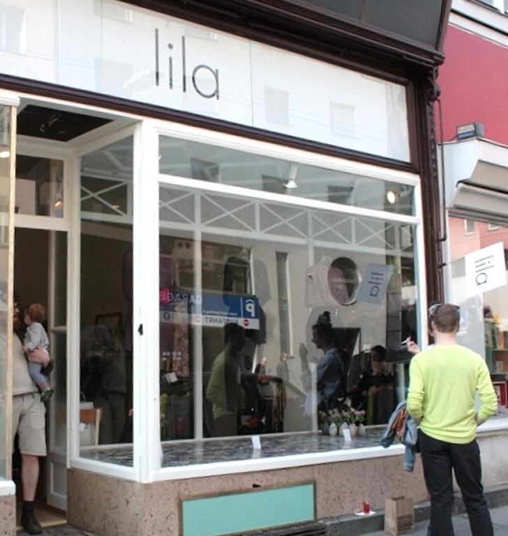 Lila Geschäft