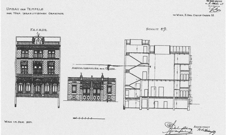 Türkischer Tempel Plan Hugo von Wiedenfeld
