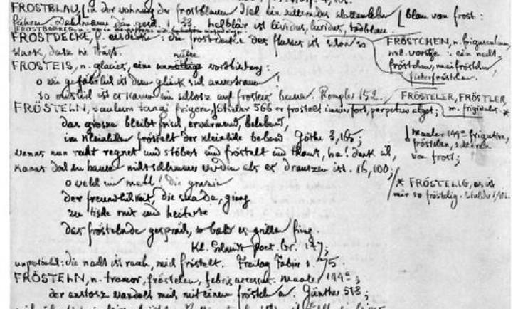 Grimms erstes Wörterbuch