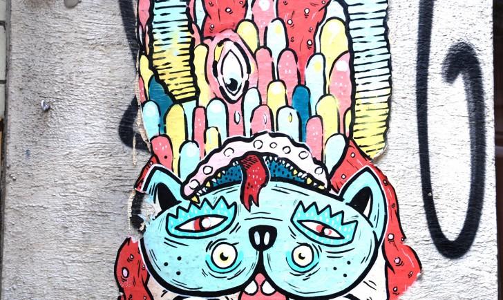 Fundstück - bunte Streetart