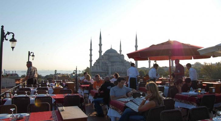 Ausblick auf die blaue Moschee