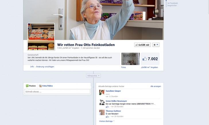 Facebook Frau Ott
