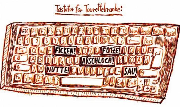 Tastatur für Tourettekranke