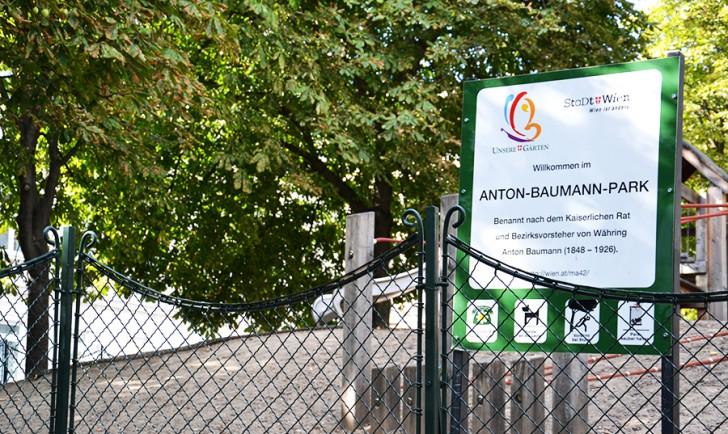 Eingang Anton Baumann Park (c) Maltschnig stadtbekannt.at