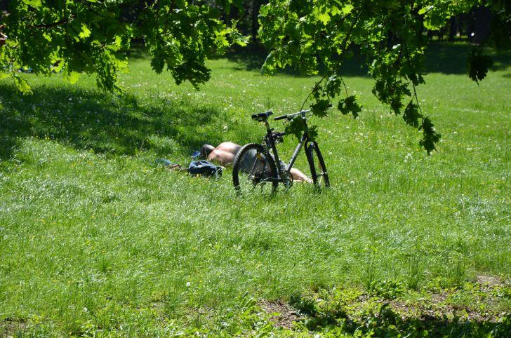 Prater Schlafender Radfahrer (c) stadtbekannt.at