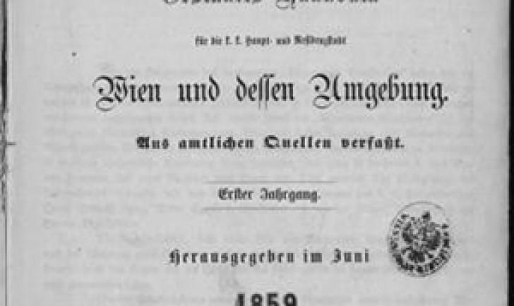 Adressbuch Lehmann Foto - Katalog der Wienbibliothek im Rathaus