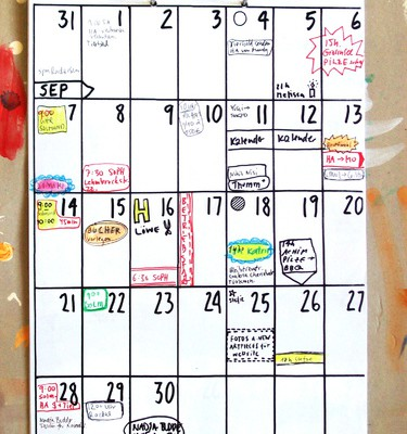 Der gezeichnete Wandkalender