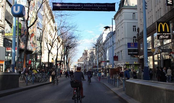 Radfahrer Mariahilfer Straße (c) stadtbekannt.at
