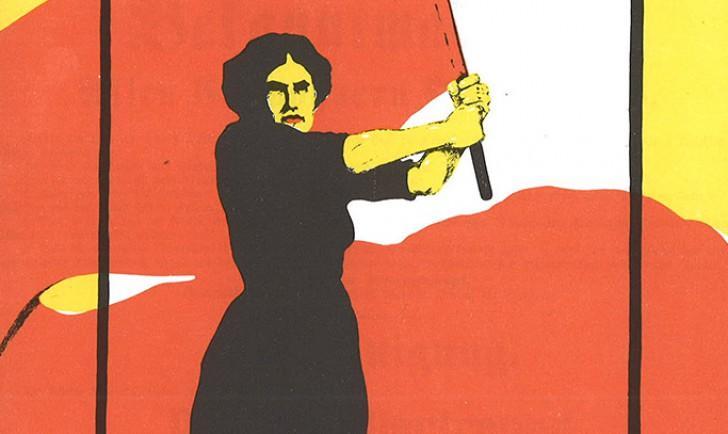 Ausschnitt Frauentag 1914 Heraus mit dem Frauenwahlrecht