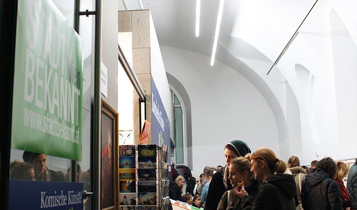 Buchpräsentation Vegan in Wien Eingang (c) CF stadtbekannt