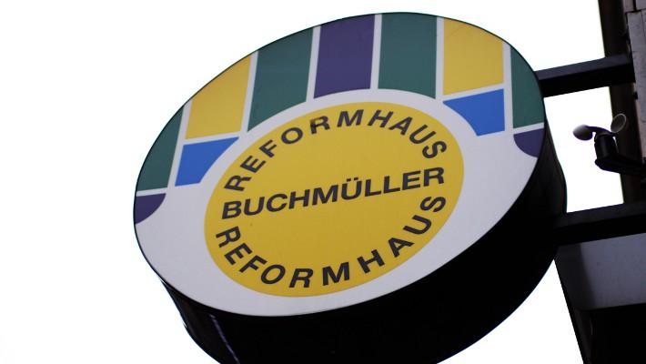 Reformhaus Buchmueller Schild (c) CF stadtbekannt