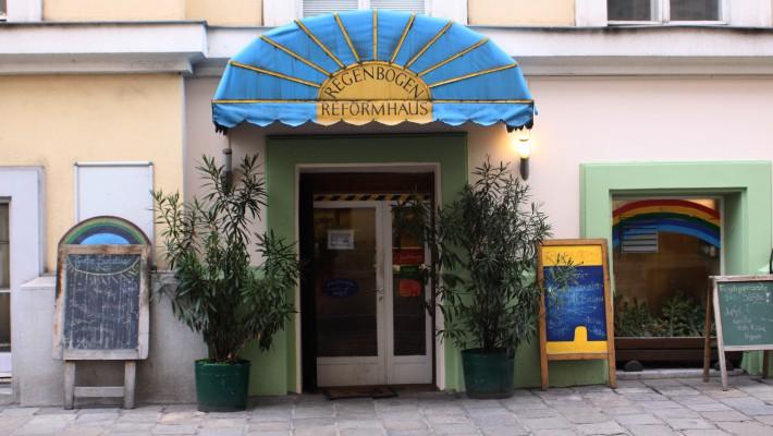Regenbogen Reformhaus Eingang (c) CF stadtbekannt